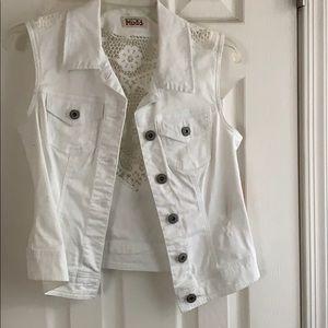 NWT white jean jacket
